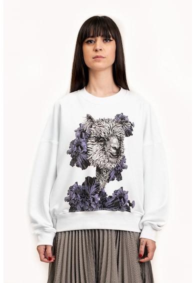 Ioana Ciolacu Bő fazonú mintás pulóver női