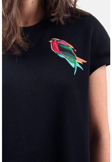 Ioana Ciolacu Bővülő fazonú ruha hímzett madármintával női