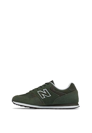 New Balance Nyersbőr sneaker műbőr betétekkel férfi