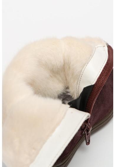Geox Cizme mid-calf impermeabile de piele intoarsa cu garnitura de blana sintetica Hadriel Fete