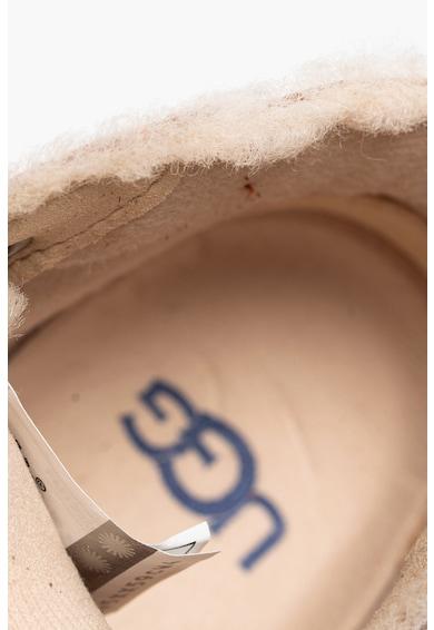 UGG Ghete din piele intoarsa si piele cu segmente cu inchidere velcro Rennon II Fete
