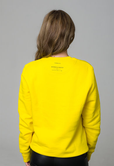 Andreea Raicu Organikuspamut pulóver feliratos mintával női