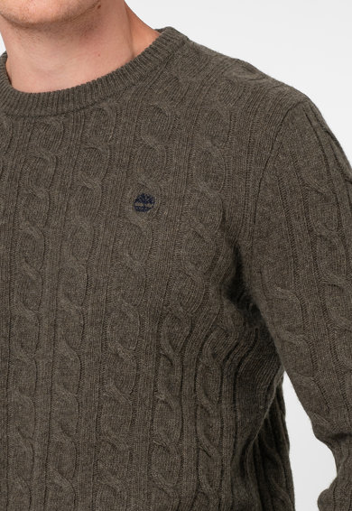 Timberland Vastag kötésmintájú pulóver logóval férfi