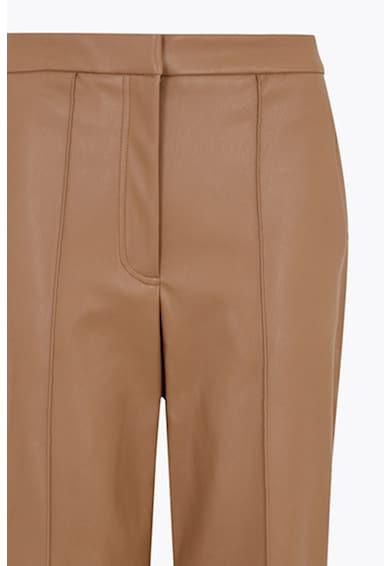 Marks & Spencer Pantaloni crop din piele ecologica cu croiala dreapta Femei
