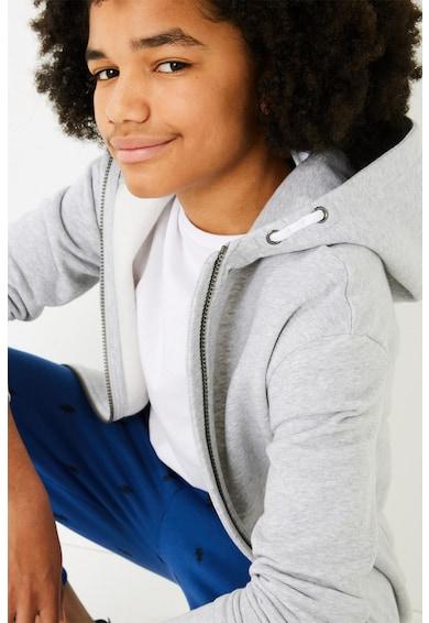 Marks & Spencer Cipzáros pulóver kapucnival és ferde zsebekkel 2 Fiú