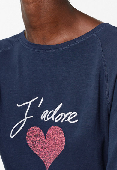 Marks & Spencer Bluza de pijama cu imprimeu text Femei