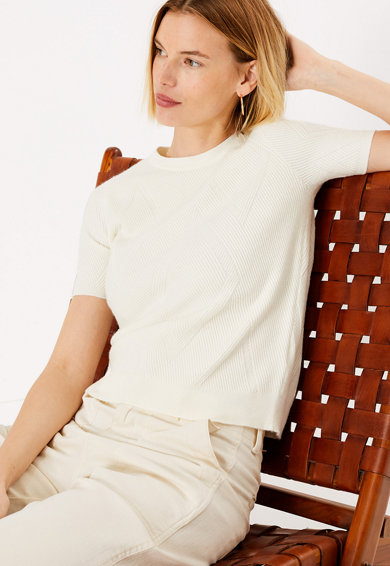 Marks & Spencer Rövid ujjú texturált pulóver női