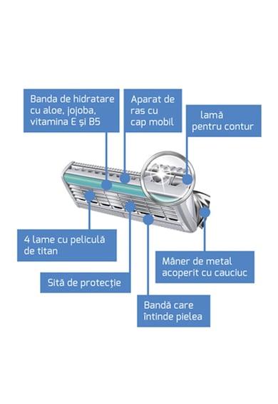 Wilkinson Rezerva aparat de ras  Quatro Titanium Precision Carbon, Barbati, 4 buc Femei