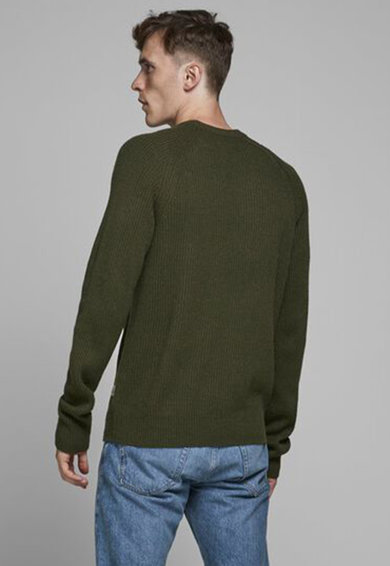Jack&Jones Kerek nyakú bordázott pulóver férfi