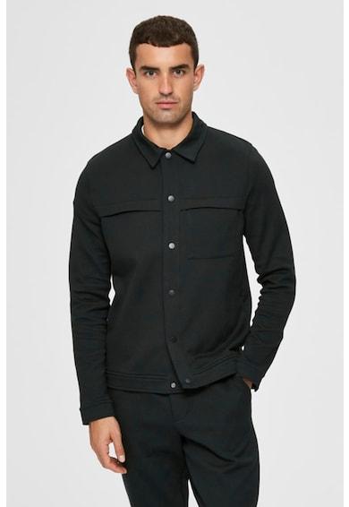 Selected Homme Könnyű kabát klasszikus gallérral férfi