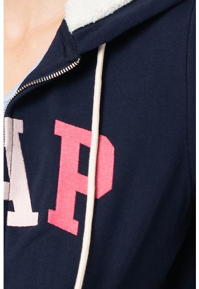 GAP Cipzáros felső kapucnival és logómintával női