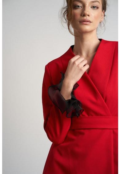 Monarh Átlapolt miniruha selyemfodrokkal női