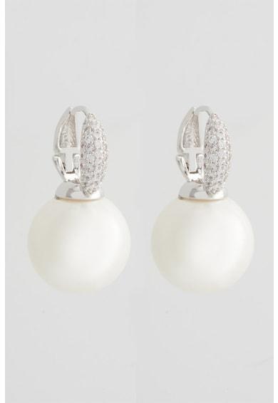 U.S. Polo Assn. Fülbevaló gyöngyökkel és cirkónia kristályokkal díszítve női