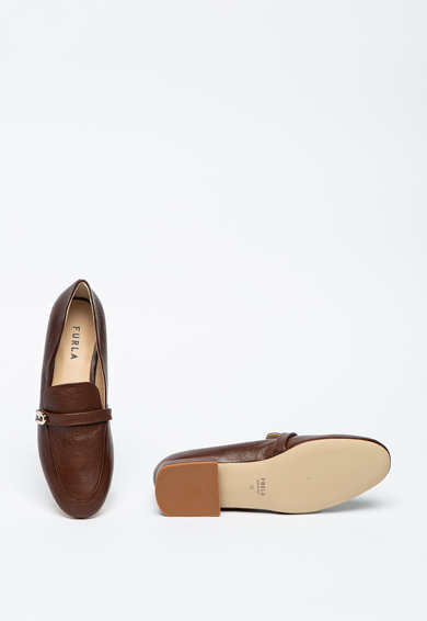 Furla Pantofi loafer cu bareta logo Femei