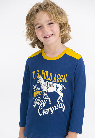U.S. Polo Assn. Mintás pamutpizsama Fiú