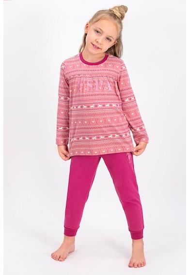 U.S. Polo Assn. Logómintás pizsama hosszú ujjakkal Lány