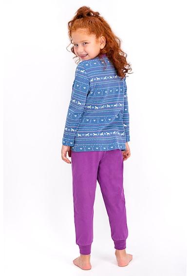 U.S. Polo Assn. Pijama de bumbac cu imprimeu logo Fete