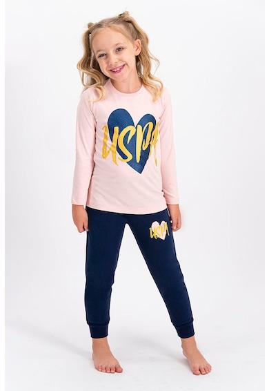 U.S. Polo Assn. Logós és mintás pizsama Lány