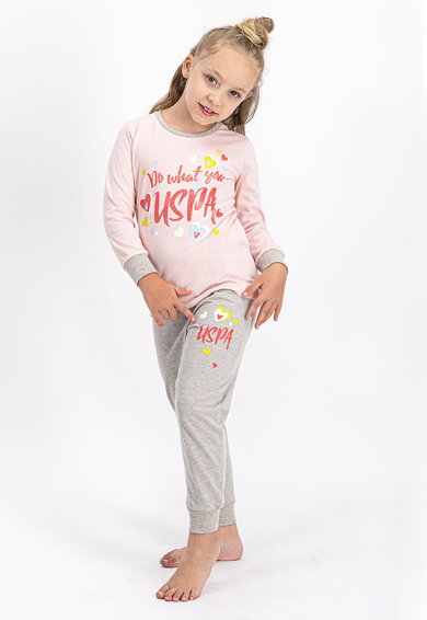 U.S. Polo Assn. Mintás pizsama Lány