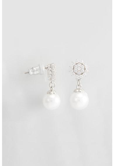 U.S. Polo Assn. Cercei drop decorati cu perle sintetice si cristale Femei