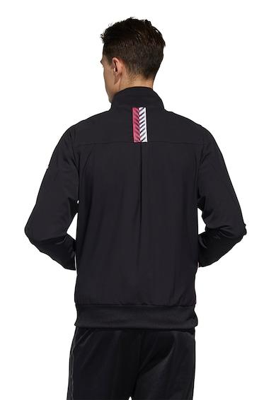 adidas Performance Bluza sport cu fermoar si logo Barbati