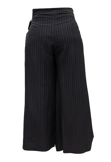 Edita Lupea Pantaloni din amestec de lana cu croiala ampla si model in dungi Femei