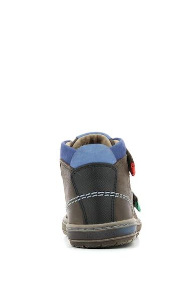 Kickers kids Iguto tépőzáras bőr sneaker Fiú