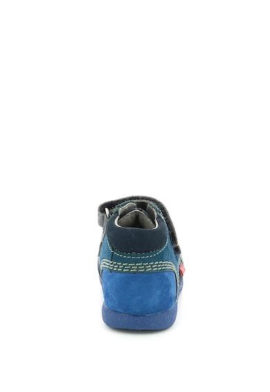 Kickers kids Pantofi din piele nabuc cu model colorblock Fete