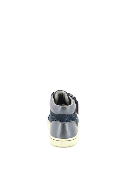Kickers kids Pantofi sport mid-high din piele cu fermoar Fete