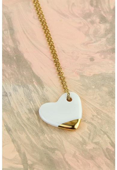 Gruni Nyaklánc szív alakú kerámiamedállal női