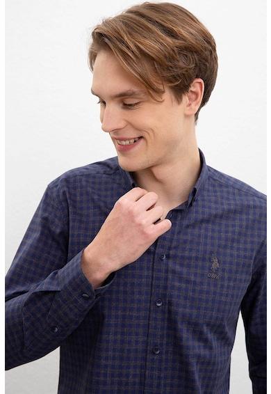 U.S. Polo Assn. Szűk fazonú kockás ing férfi