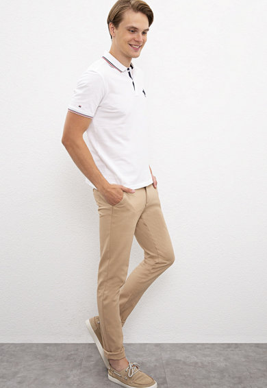 U.S. Polo Assn. Slim fit chino nadrág férfi