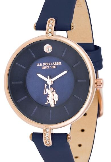 U.S. Polo Assn. Bőrszíjas kvarc karóra női