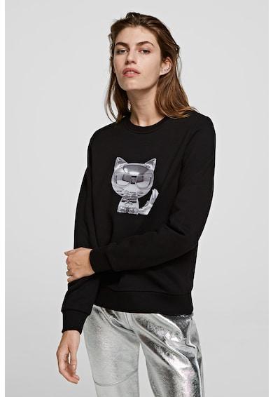 Karl Lagerfeld Kerek nyakú mintás pulóver női