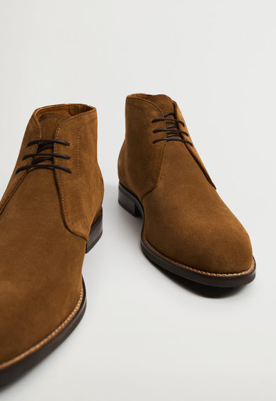 Mango Safari nyersbőr chukka cipő férfi