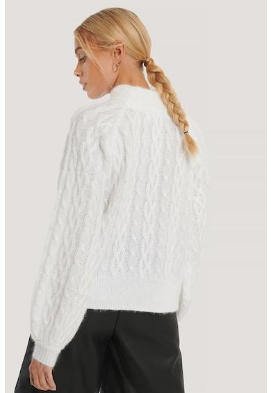 NA-KD Garbónyakú pulóver csavart kötésmintával női