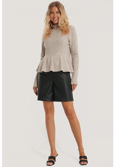 NA-KD Gyapjútartalmú peplum dizájnos pulóver női