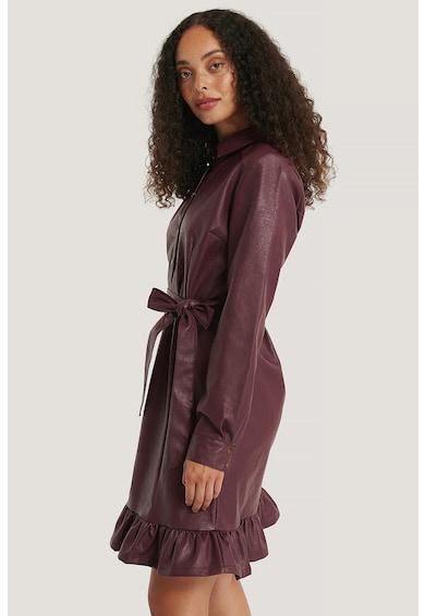 NA-KD Műbőr ingruha megkötővel női