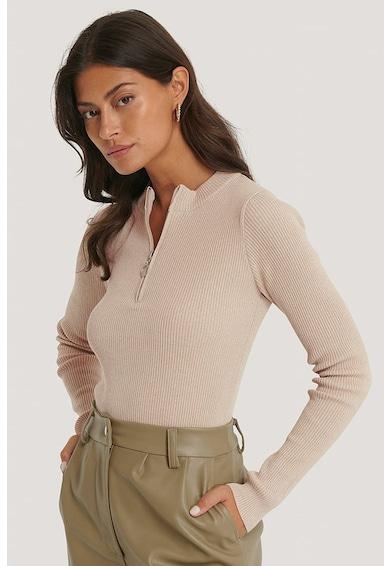 NA-KD Szűk fazonú pulóver cipzáros hasítékkal női