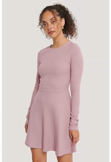 NA-KD Bővülő fazonú bordázott ruha női
