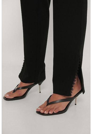 NA-KD Straight fit nadrág magad derékrésszel női