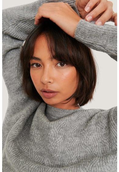 NA-KD Crop pulóver csavart kötésmintájú dizájnnal női
