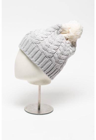 Salomon Caciula din amestec de lana cu model torsade pentru schi Femei