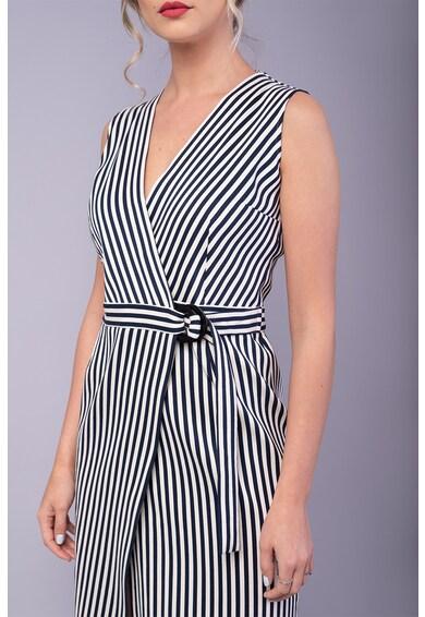 Couture de Marie Átlapolt ruha csíkos mintával női