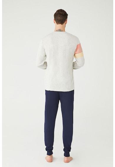 U.S. Polo Assn. Pijama din amestec de bumbac cu logo Barbati