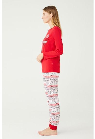 U.S. Polo Assn. Fair Isle mintás pizsama női