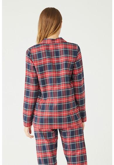 U.S. Polo Assn. Kockás pizsama hajtókás gallérral női