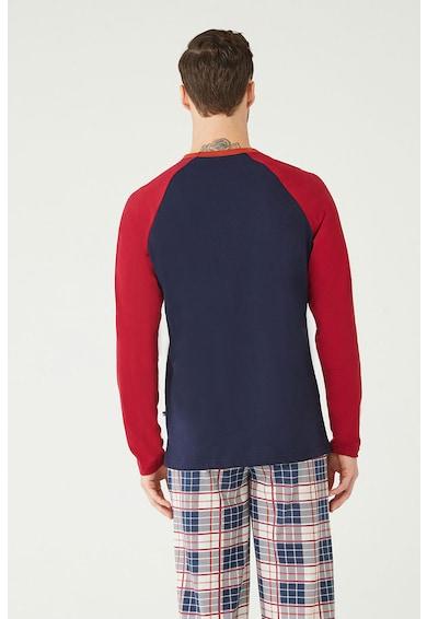 U.S. Polo Assn. Pizsama logós és kockás mintával férfi