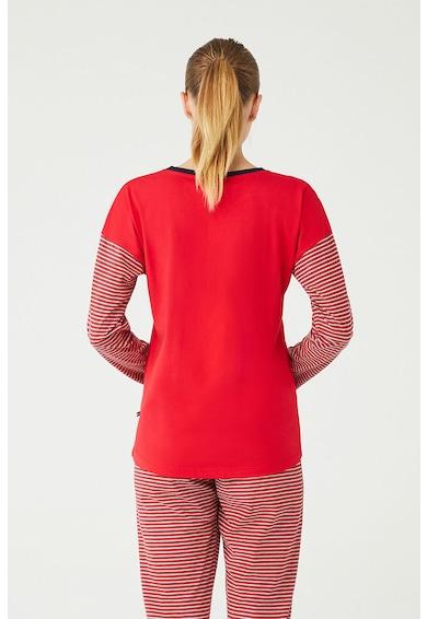 U.S. Polo Assn. Pijama cu model in dungi si logo Femei