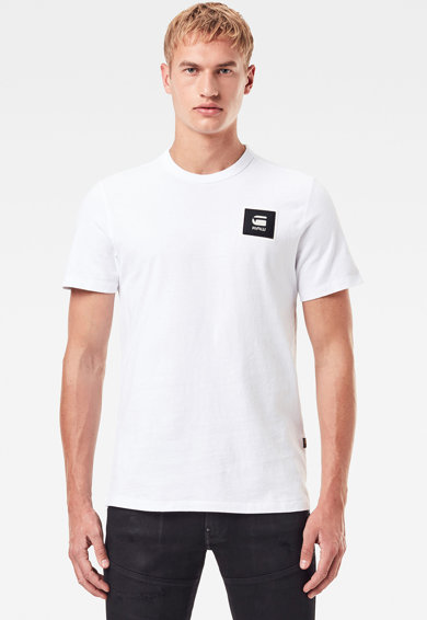 G-Star RAW Organikuspamut póló logós foltrátéttel férfi